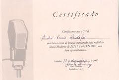 Certificado de Locução