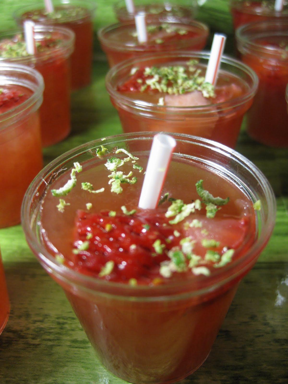My Jello Americans: The Strawberry Rhubarb Margarita