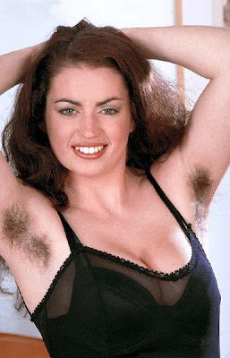 Hairy woman armpits