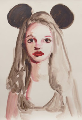 Britney Spears, Mouseketeer, mouse ears, painging of britney spears
