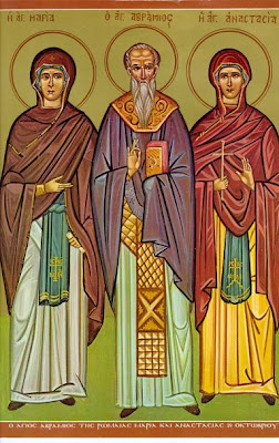 Blessed Maria the Niece of Abramius, St Abramius and Anastasia