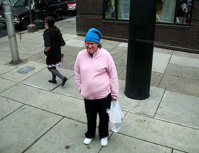 Blue hat, pink jacket; click for previous post