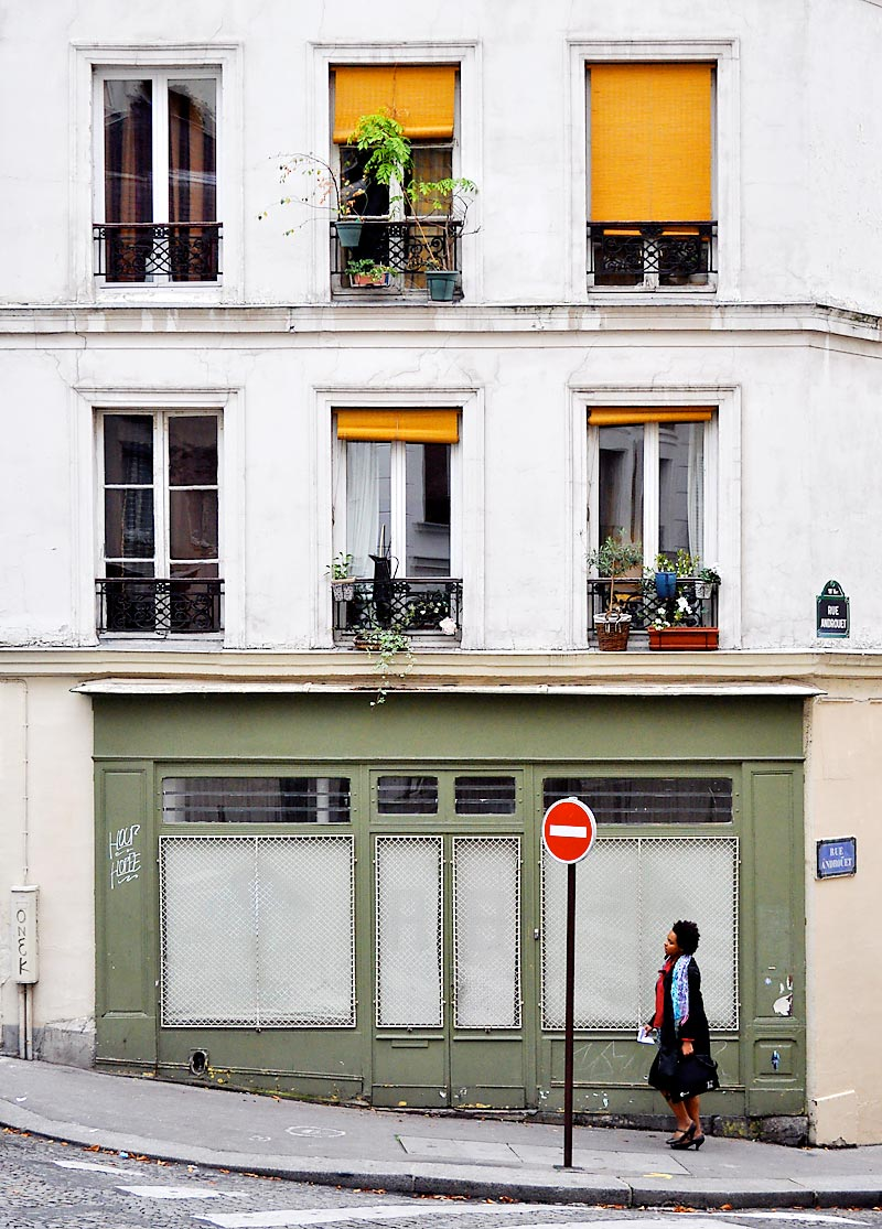 Rue Androuet and Rue Berthe; click for previous post