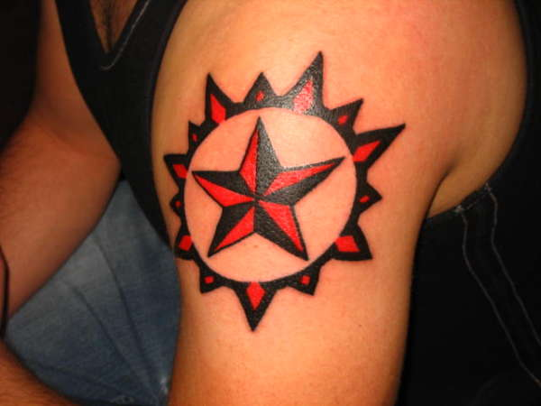 nautical star tattoo on back