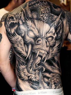 Full Body Japanese Dragon Tattoo Designs
