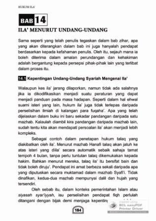 Buku Zihar dan Ila': Bab 14