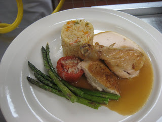 Roasted Chicken, Roasted Asparagus, Roasted Tomato, and Grilled ...