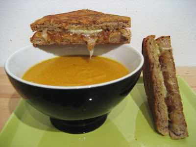 Smoky Lentil Soup With Grown-Up Grilled Cheese Sandwiches Recipe ...