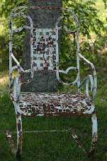 antique lawn chair