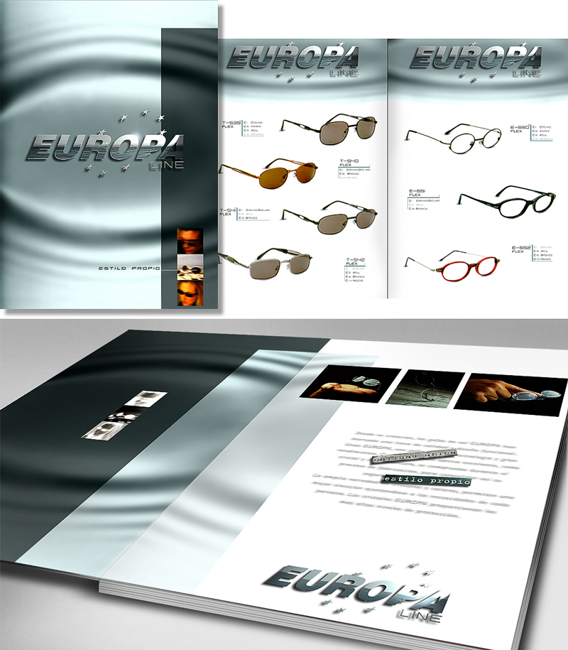 Europa Line Glasses Catalog Design by Somerset Harris