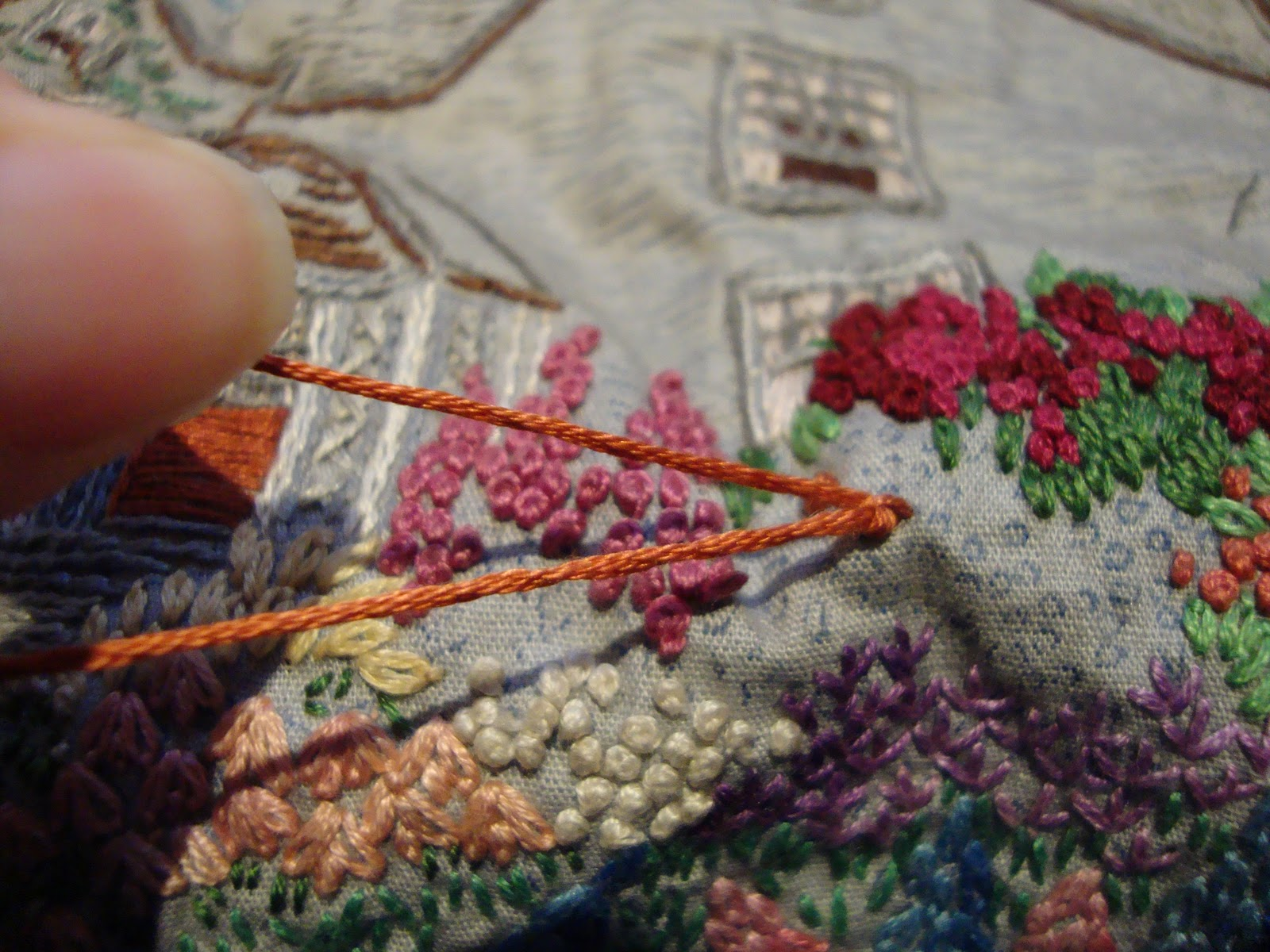 Французская вышивка узелками наборы