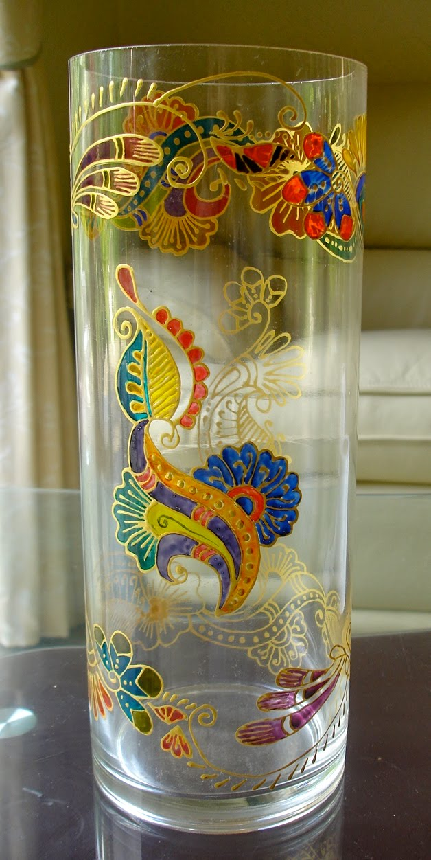 glass painting vases zaufishan
