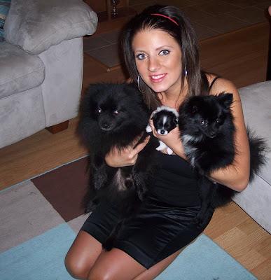 Janelle holding Tyson, LT, & Lola