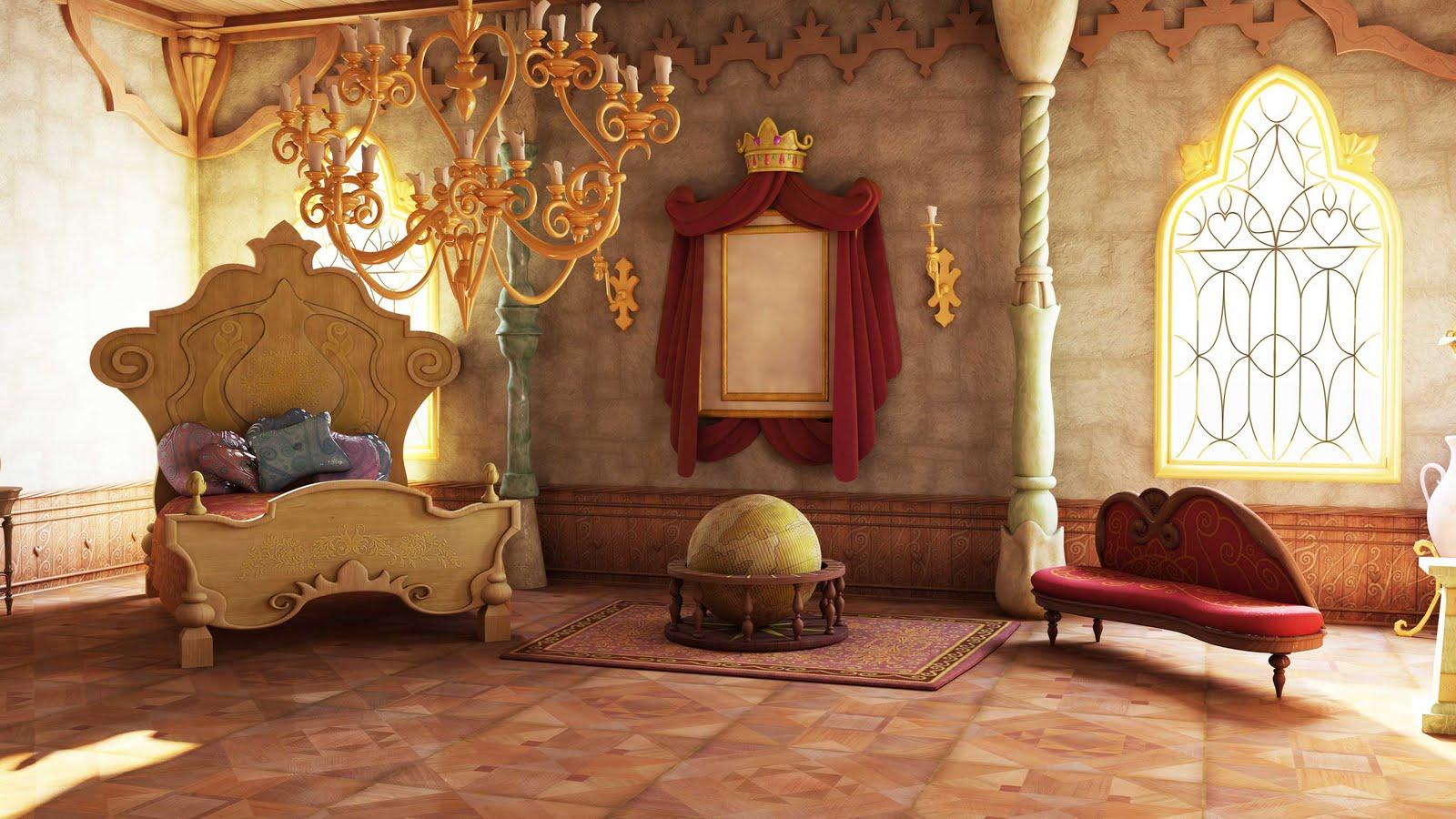 Rapho10cue pruebas de render del cuarto d la princesa denise for Cuartos de princesas