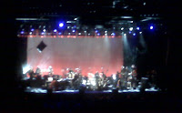 Van Morrison and his band on stage at Madison Square Garden