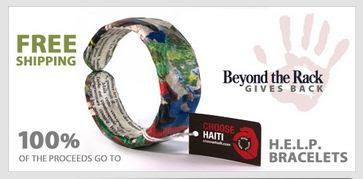 Choose Haiti Bracelet from Beyond the Rack