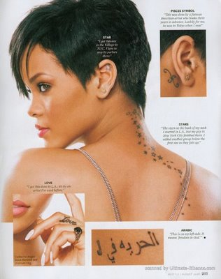 rihanna tattoos meanings. meaning behind their