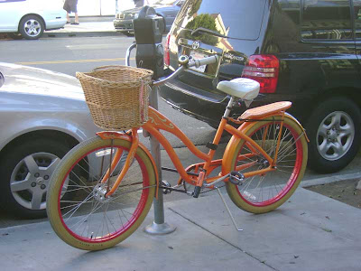 Orange Bike on Second
