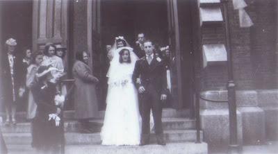 Yvonne Parenteau Marries Joe Bissanti - May 1942