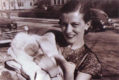 Doralice and Baby - circa April 1948