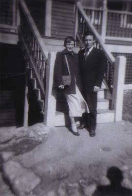 Doralice & Louis on the Vose St. Steps - circa 1952