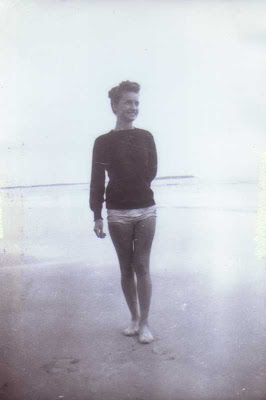 Godmother Jean at Old Orchard Beach, Maine - 1947