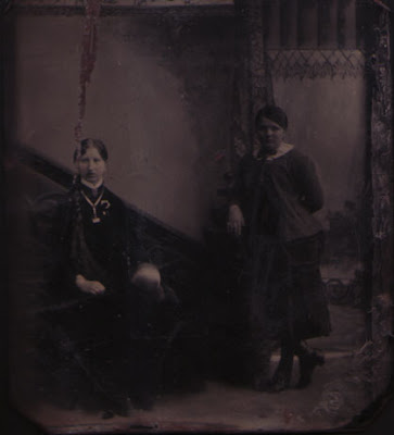 Two Women, Thin and Fat - Tintype