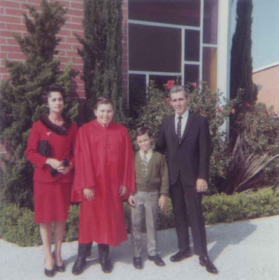 Brian's Confirmation with the Other Aldriches - Esther, Brian, Craig, Earl - 1970