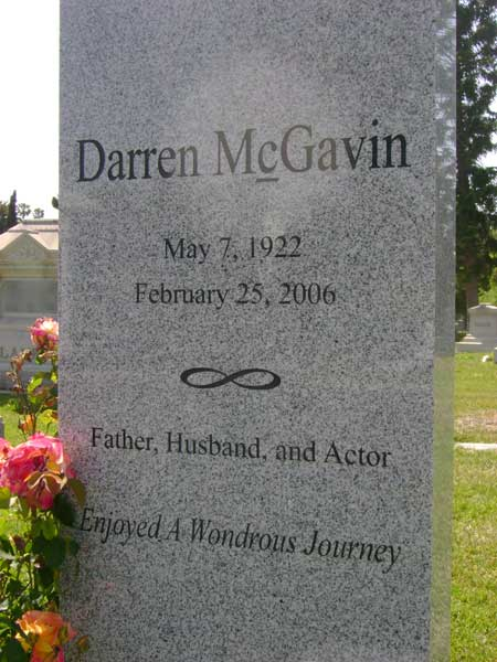 Darren McGavin - Hollywood Forever Cemetery