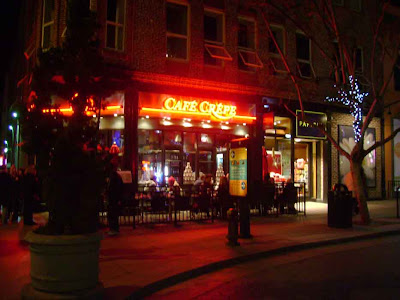 Cafe Crepe - Santa Monica Promenade at Night