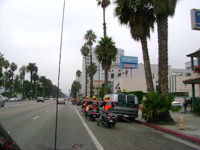 Motorcycle Club on Ocean Ave. - Santa Monica