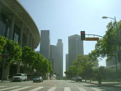 Sometimes You Can Eat the Smog - Downtown L.A. - Southbound on North Hope Street