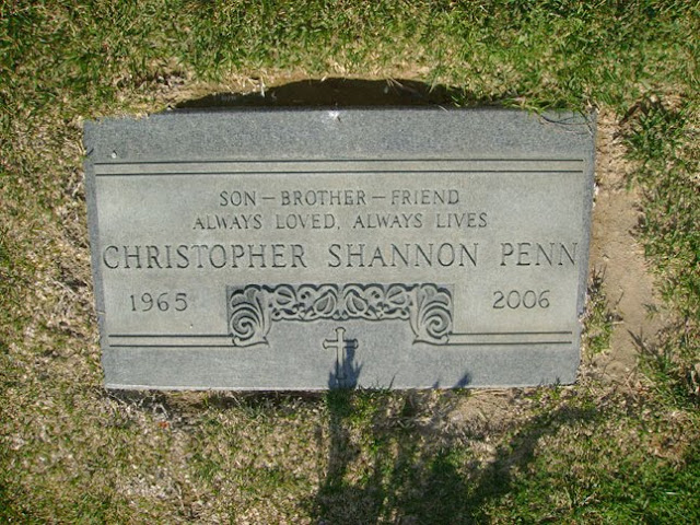 Chris Penn's Grave at Holy Cross