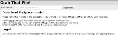 scaricare, musica, myspace