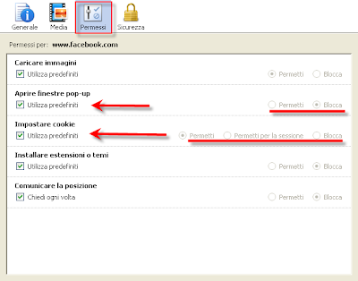 Firefox come bloccare o consentire pop up e cookie di uno specifico sito - Bloccare finestre pop up ...