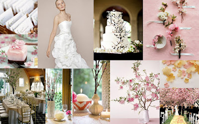 Cherry Blossoms Wedding Inspiration Board