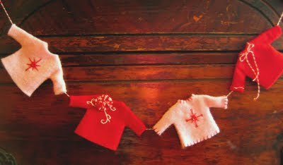 christmas ideas: felt garland