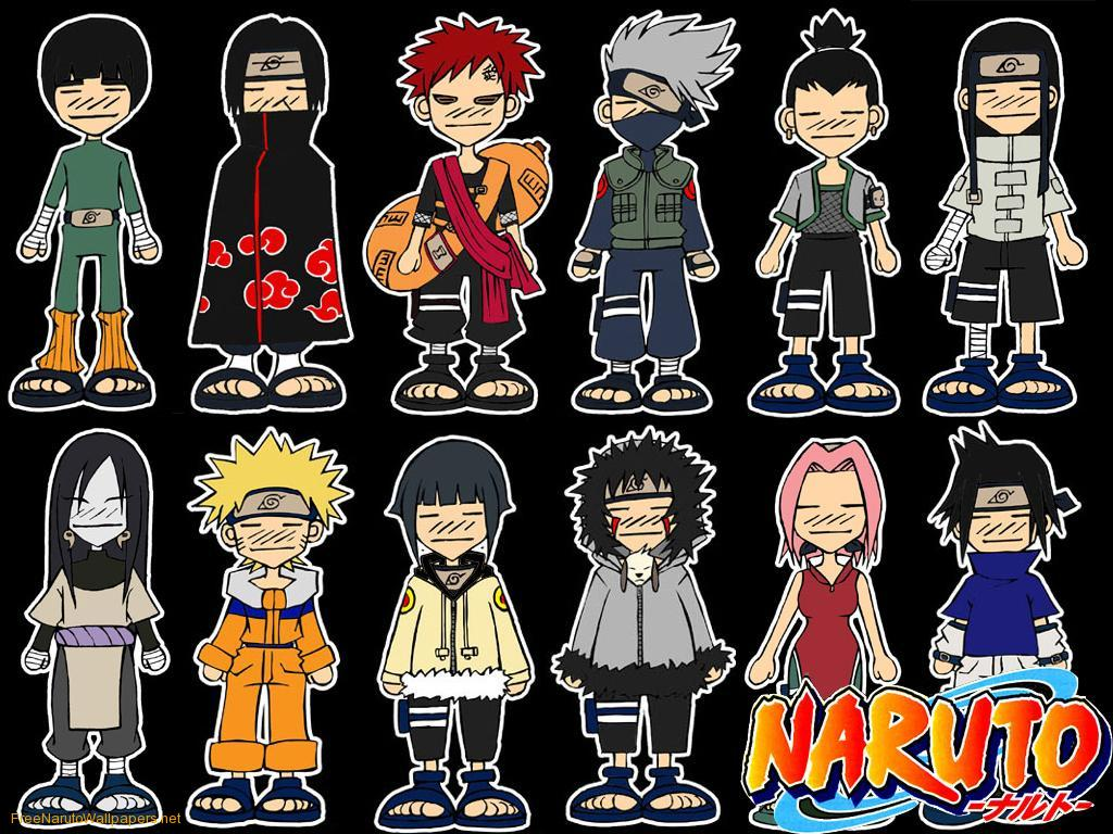 Chibi Naruto Characters wallpapers