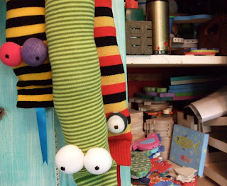 Sock Bunny Maker's studio workroom
