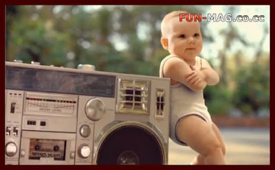 Funny Evian Roller Babies US Commercial Video