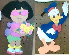 Dora y Donald Duck