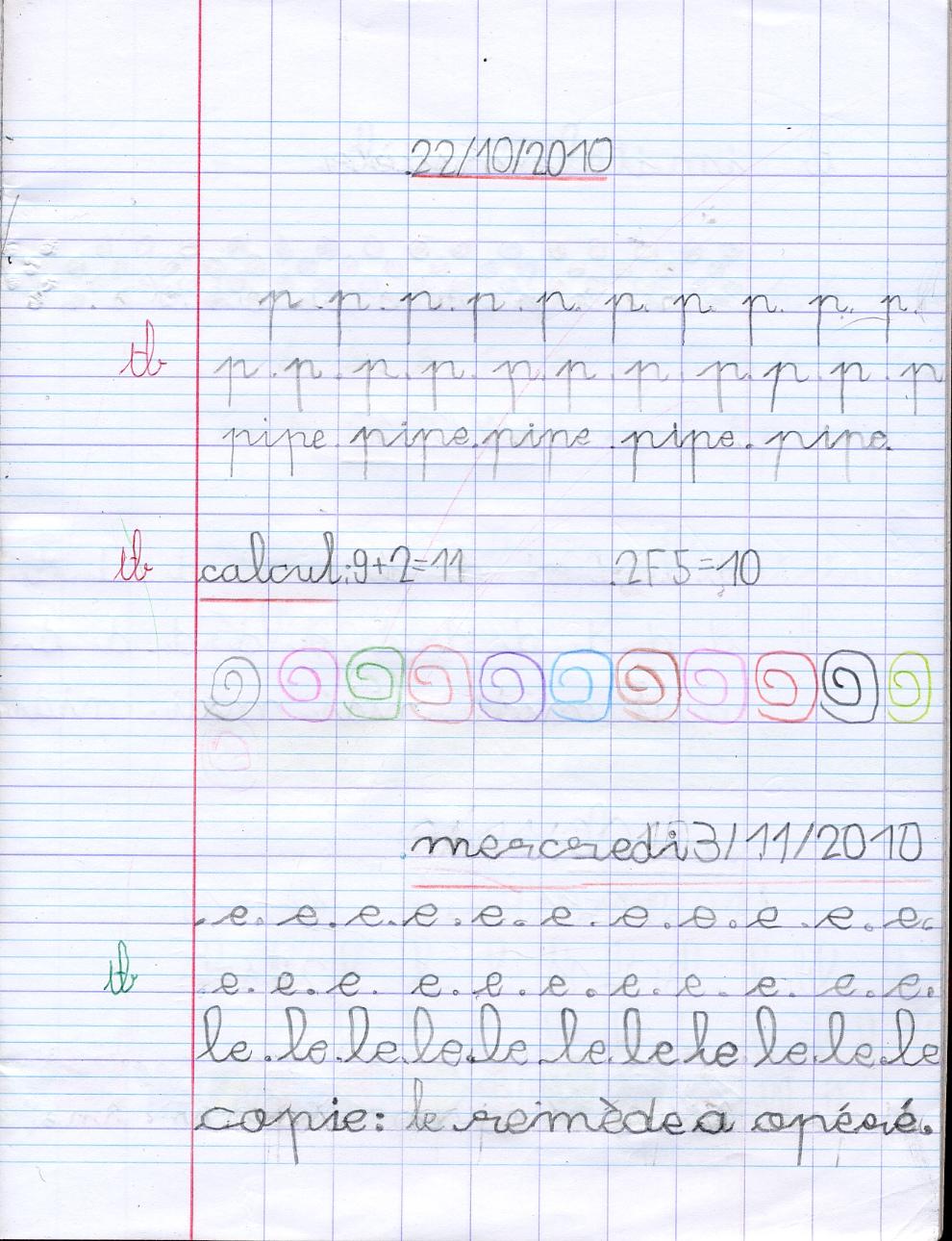 Souvent 2012/2013, JOURNAL de CLASSE, Cours préparatoire Néris-les-Bains  GF71