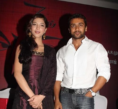 Surya and Shruthi in film 7-am Arivu
