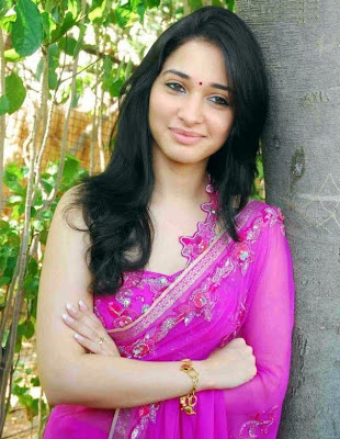 Actress Tammanna in sari stills