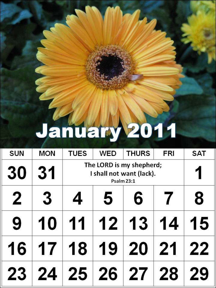 2011 calendar printable by month. 2011 Calendar Printable