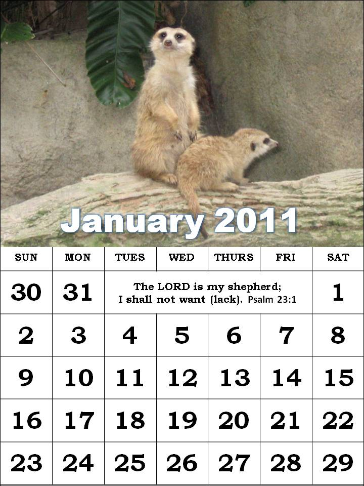detlaphiltdic: Free Christian Calendars 2011 with Bible verse for