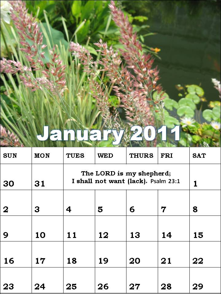 january 2011 calendar planner. Christian January 2011 Planner
