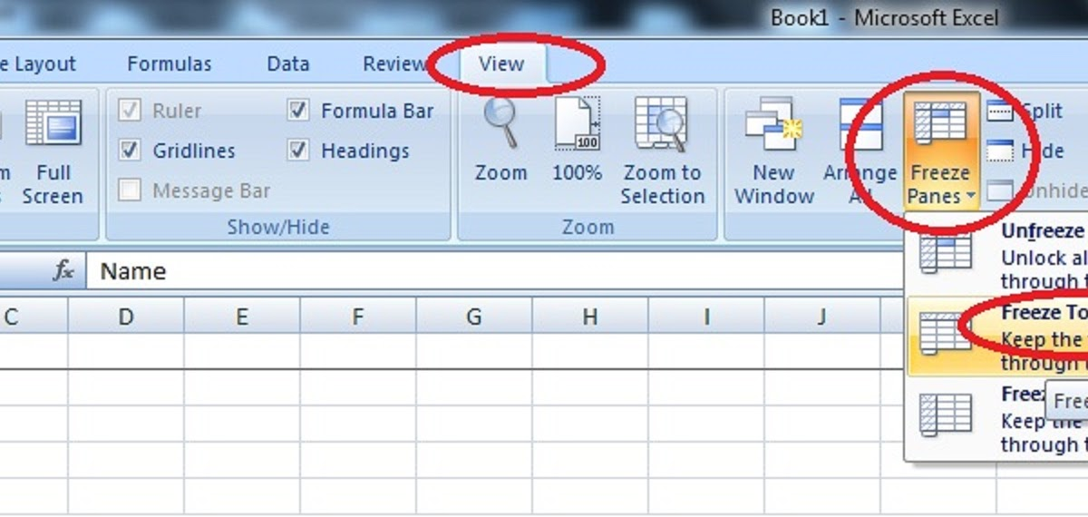 how to add header in excel 2010