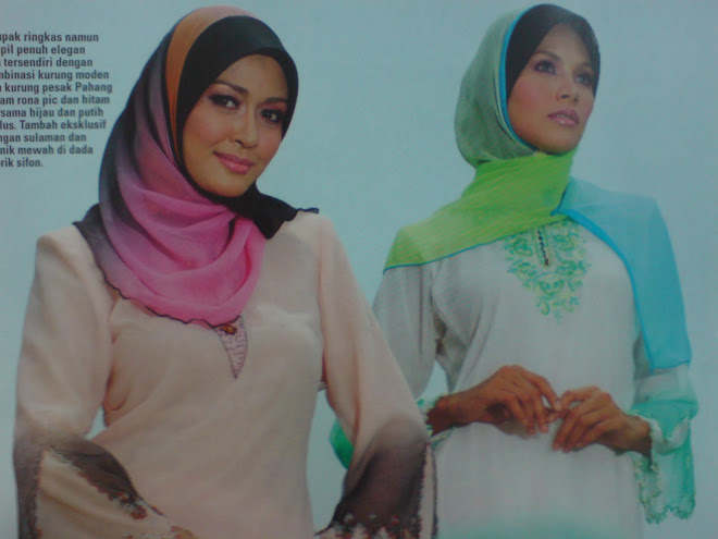 suraya 3 tone (combination black+orange+pink)