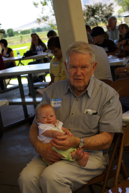 Sophie with Great-Grandpa Fullmer